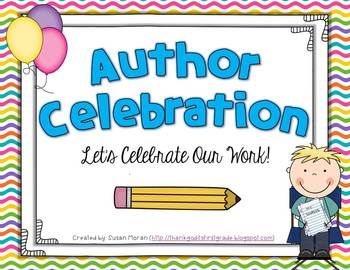 best authors tea. Author clipart celebration