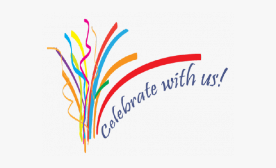 Celebration author with us. Celebrate clipart logo