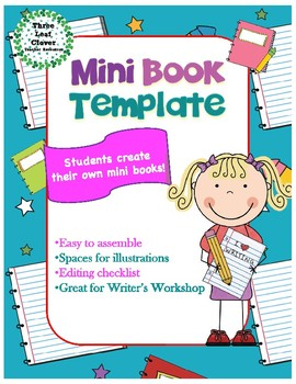 Mini book template great. Author clipart checklist student