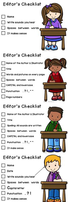 Editor s for students. Author clipart checklist student