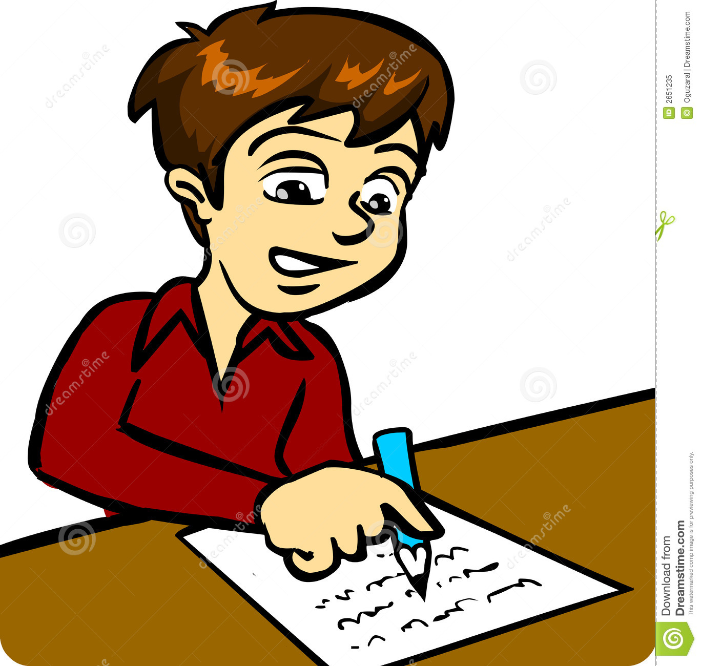 Author clipart child.  collection of writing