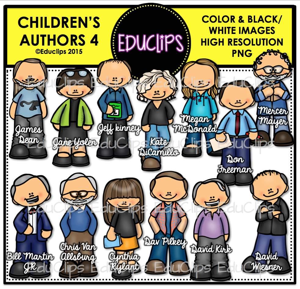 Children s authors bundle. Author clipart clip art