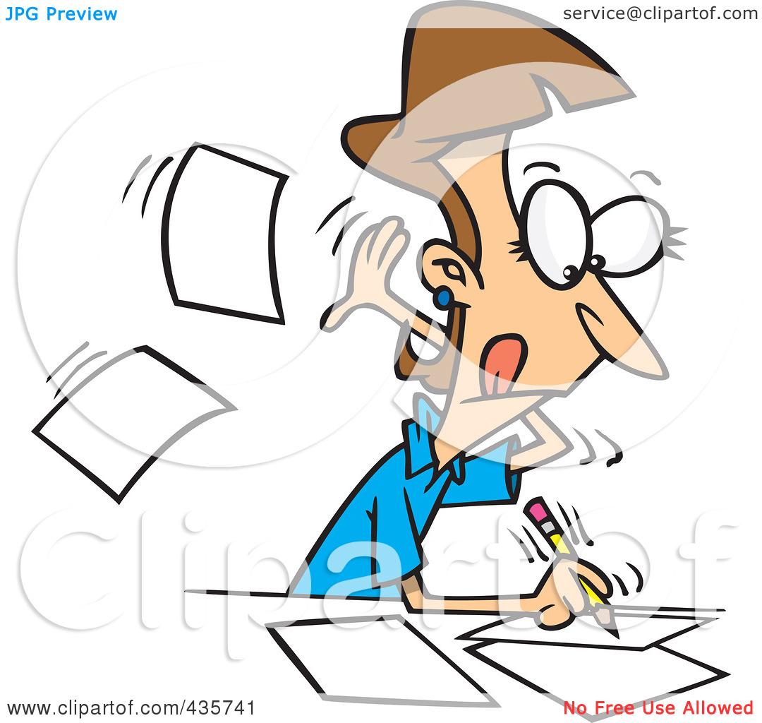 Writer clipart business writing. Girl thinking and panda