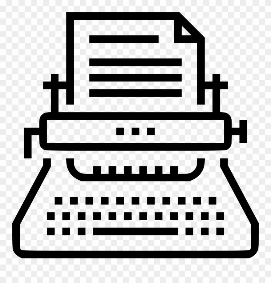 Author clipart copywriter. Typewriter copywriting comments