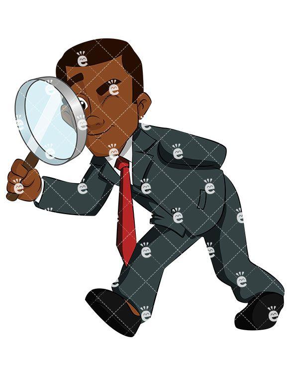 Author clipart copywriter. A black businessman looking