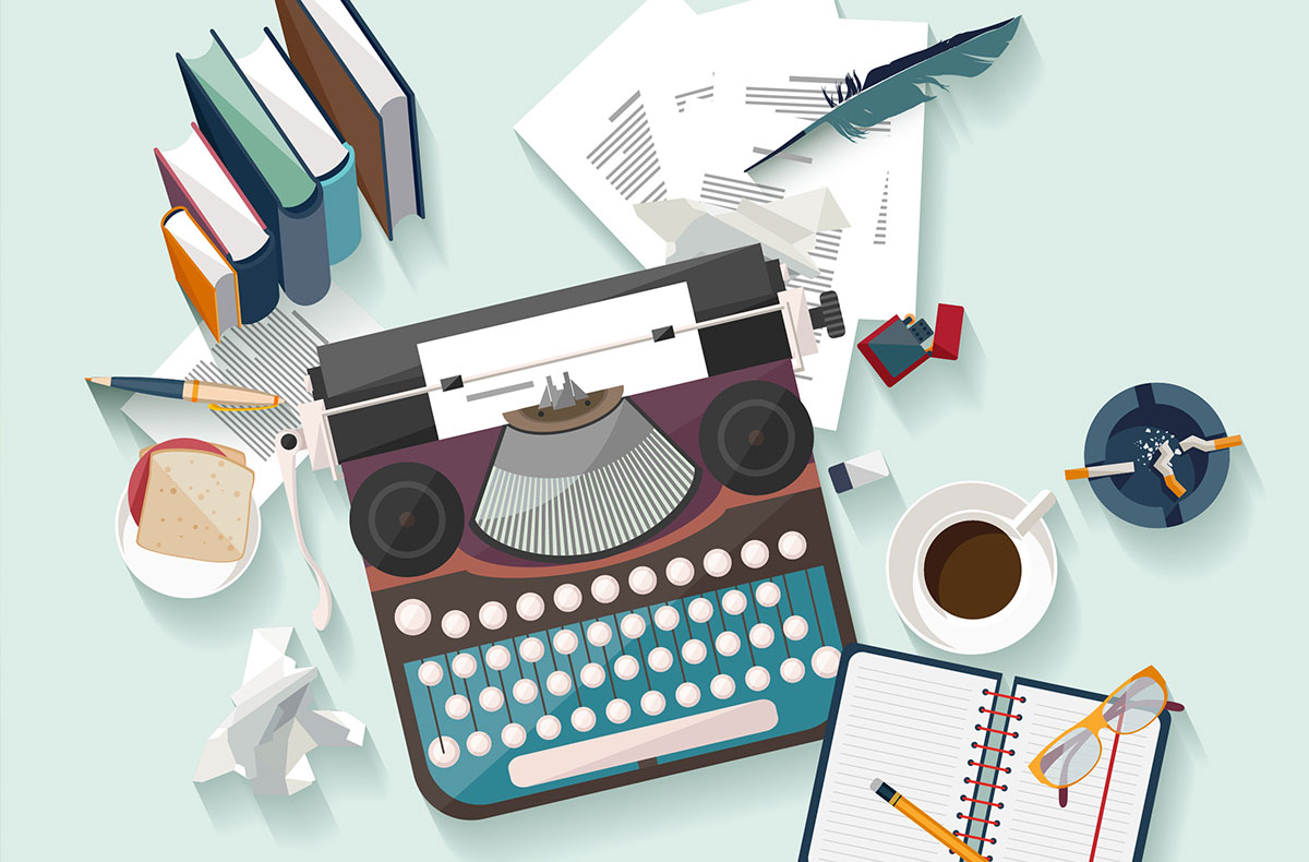 What is a . Author clipart copywriter