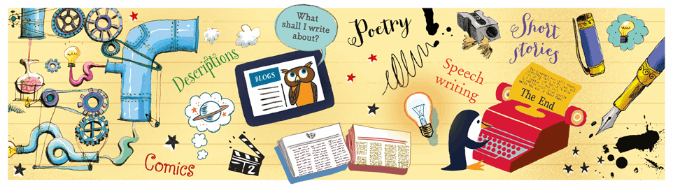 Books from usborne. Author clipart creative writing