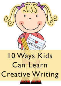 Author clipart creative writing.  ways kids can