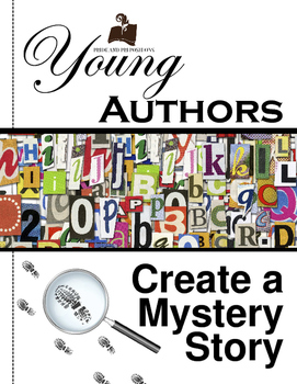 Young authors mystery story. Author clipart creative writing