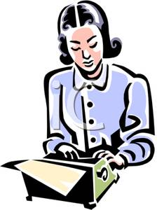 Author clipart female author. Image a typing woman