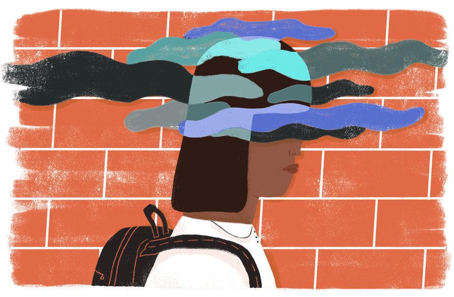Author clipart focused student. Muslim schoolchildren bullied by