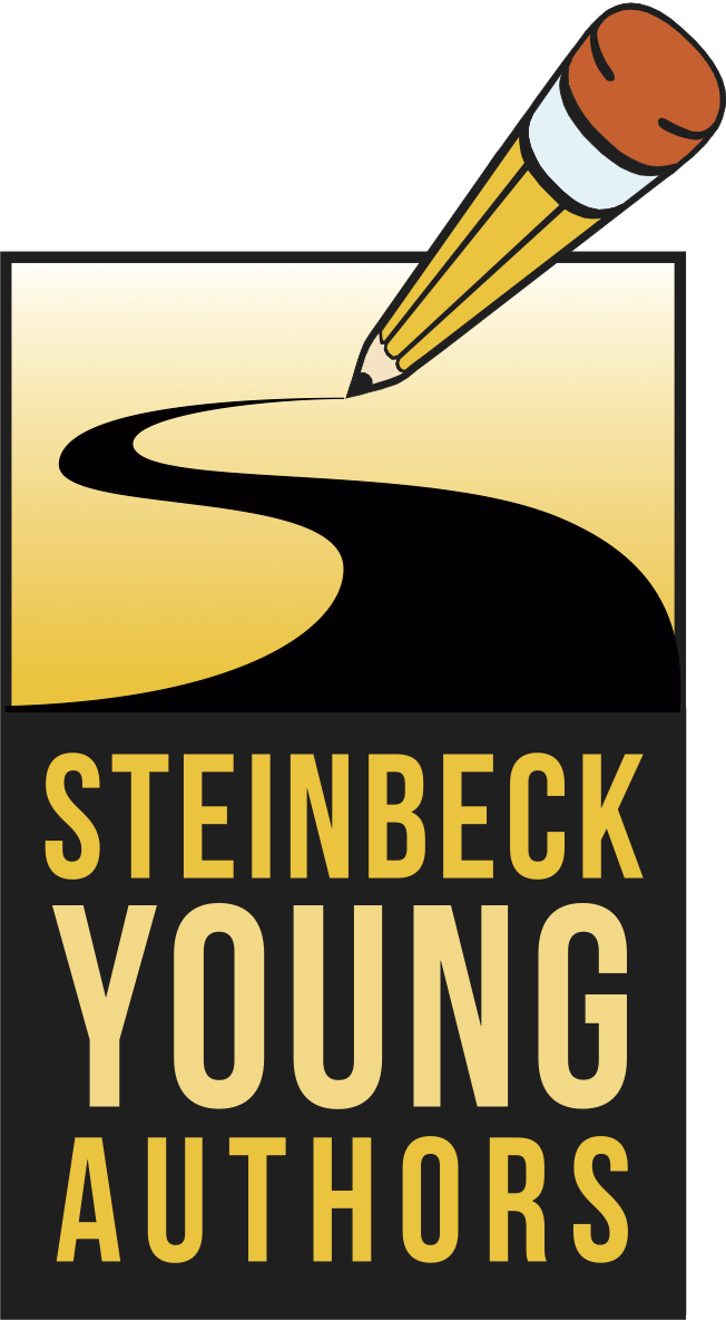 Author clipart focused student. Young authors national steinbeck