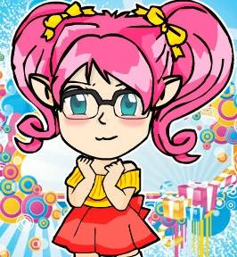 Cute chibi by vivendmayoutube. Author clipart girl nerd
