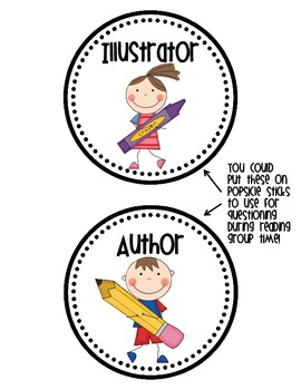 Identifying and illustrator their. Author clipart illustration