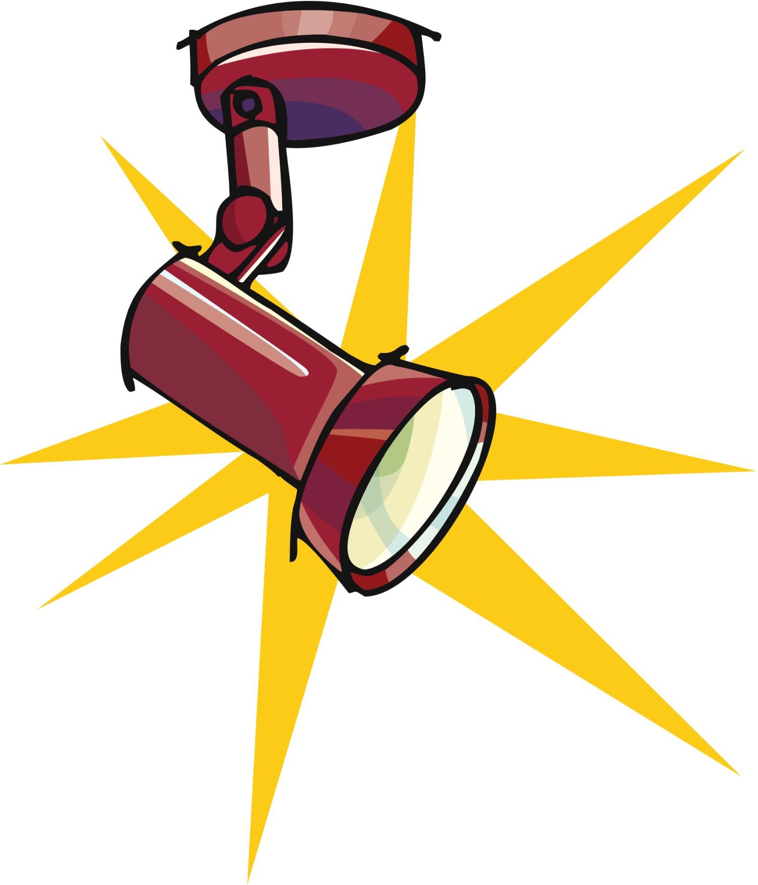 Author clipart local. Spotlight clip art free