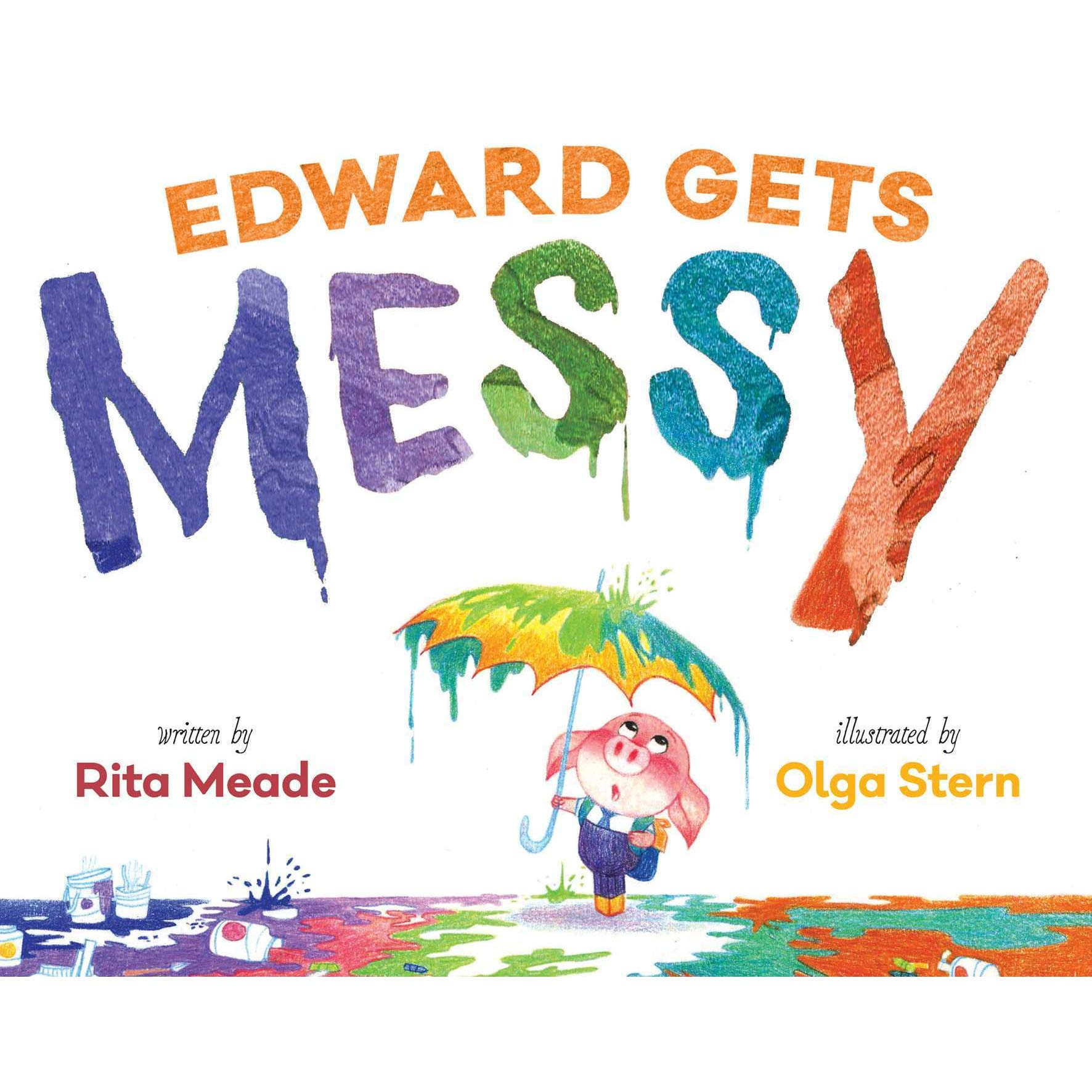 Edward gets messy by. Author clipart neatness