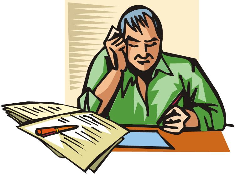 Writing cartoon newspaper reading. Writer clipart news writer