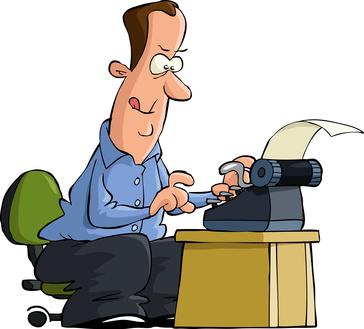 Author clipart novelist. Writer v what s