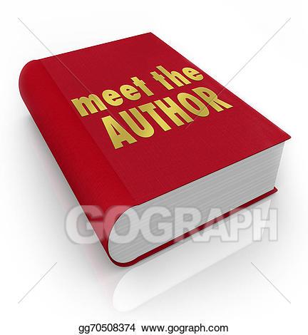 Author clipart novelist. Stock illustration meet the