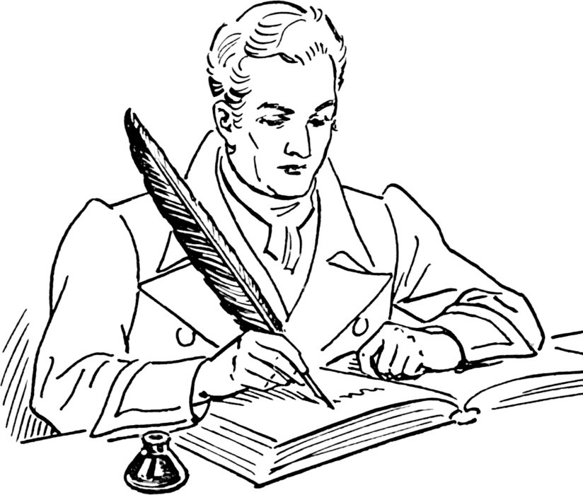 The bi writers association. Author clipart playwright