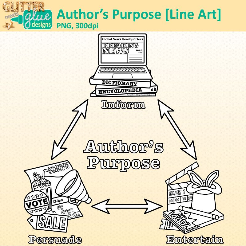 Author clipart purpose. S digi stamps and
