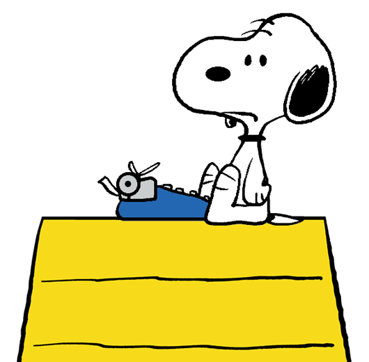 Author clipart snoopy. The world famous fresh