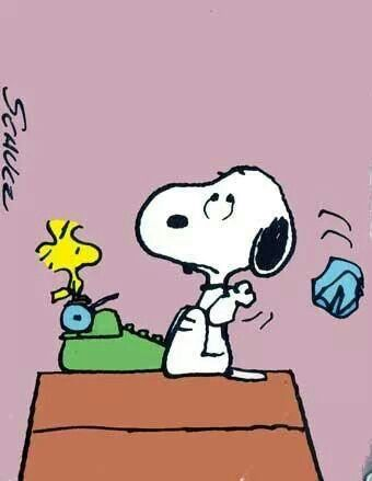 The writing amy lillard. Author clipart snoopy