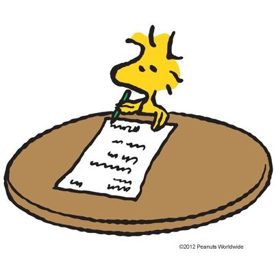 best woodstock class. Author clipart snoopy