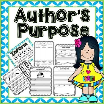 Author clipart statement purpose. S reading skill cut