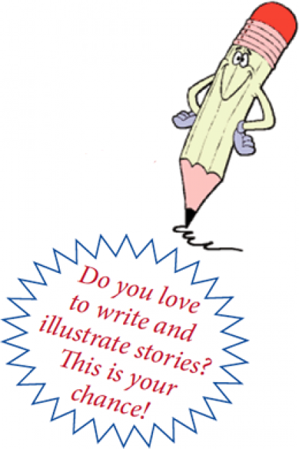 Author clipart story writing. Bilingual young authors contest