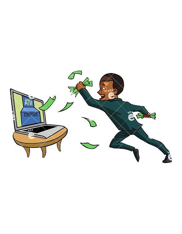 A successful black businessman. Author clipart success