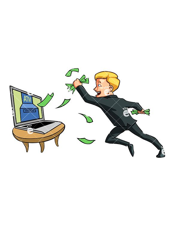 Author clipart success. Man catching money coming
