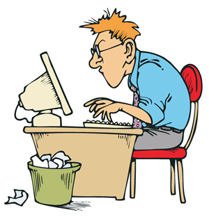 Writing boring or brilliant. Author clipart technical writer