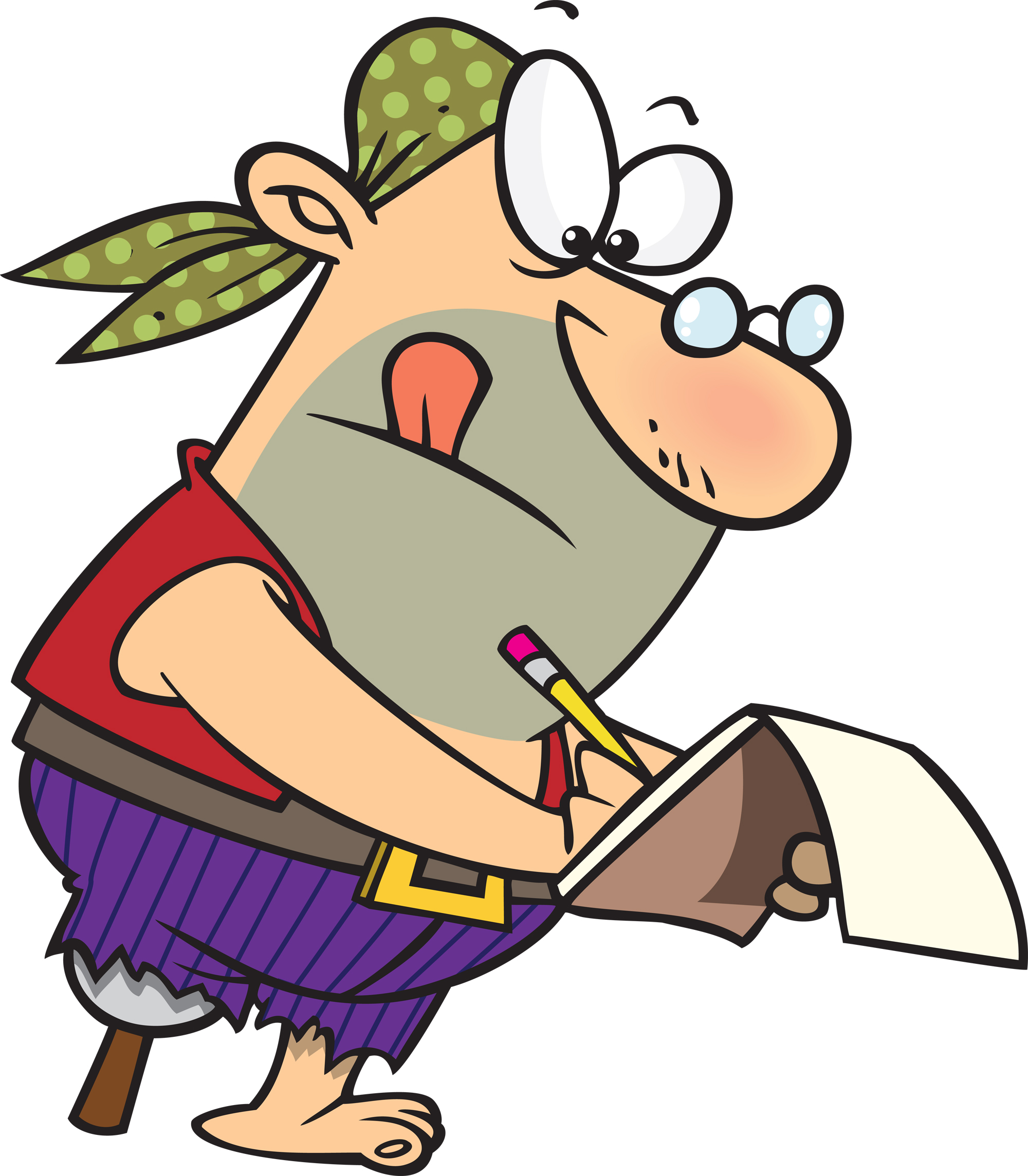 Researching an writer on. Author clipart thinking