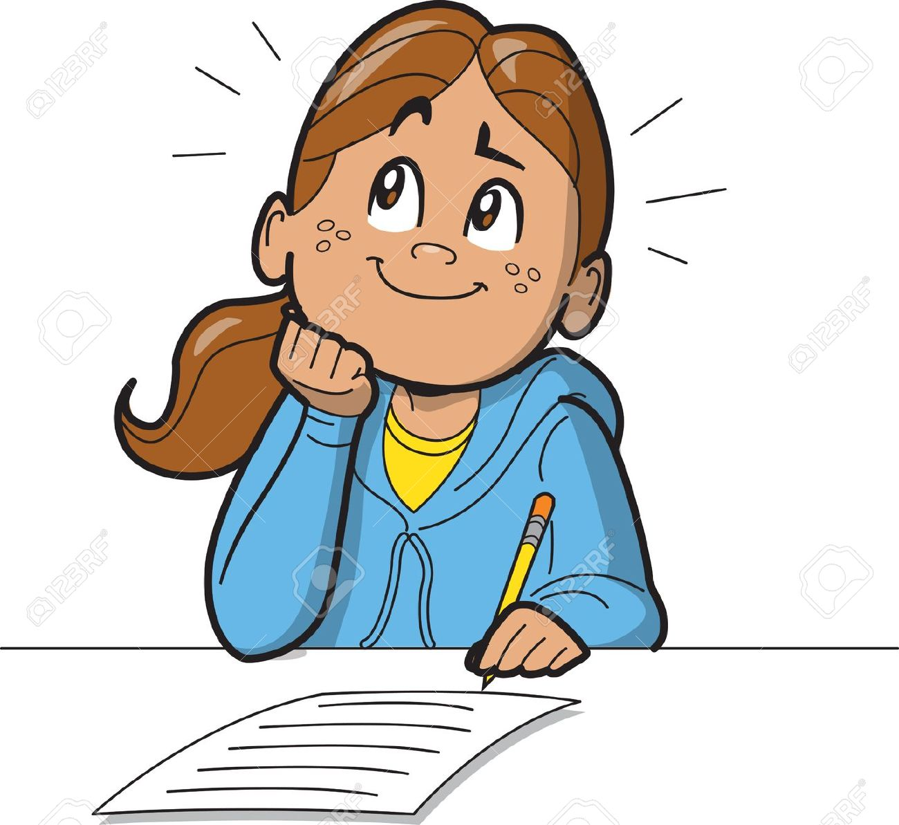 collection of girl. Test clipart write