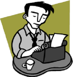 Writer clipart novelist. Author writing
