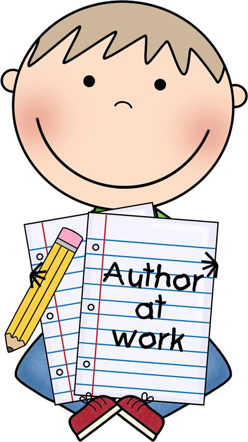 Read to self free. Author clipart work