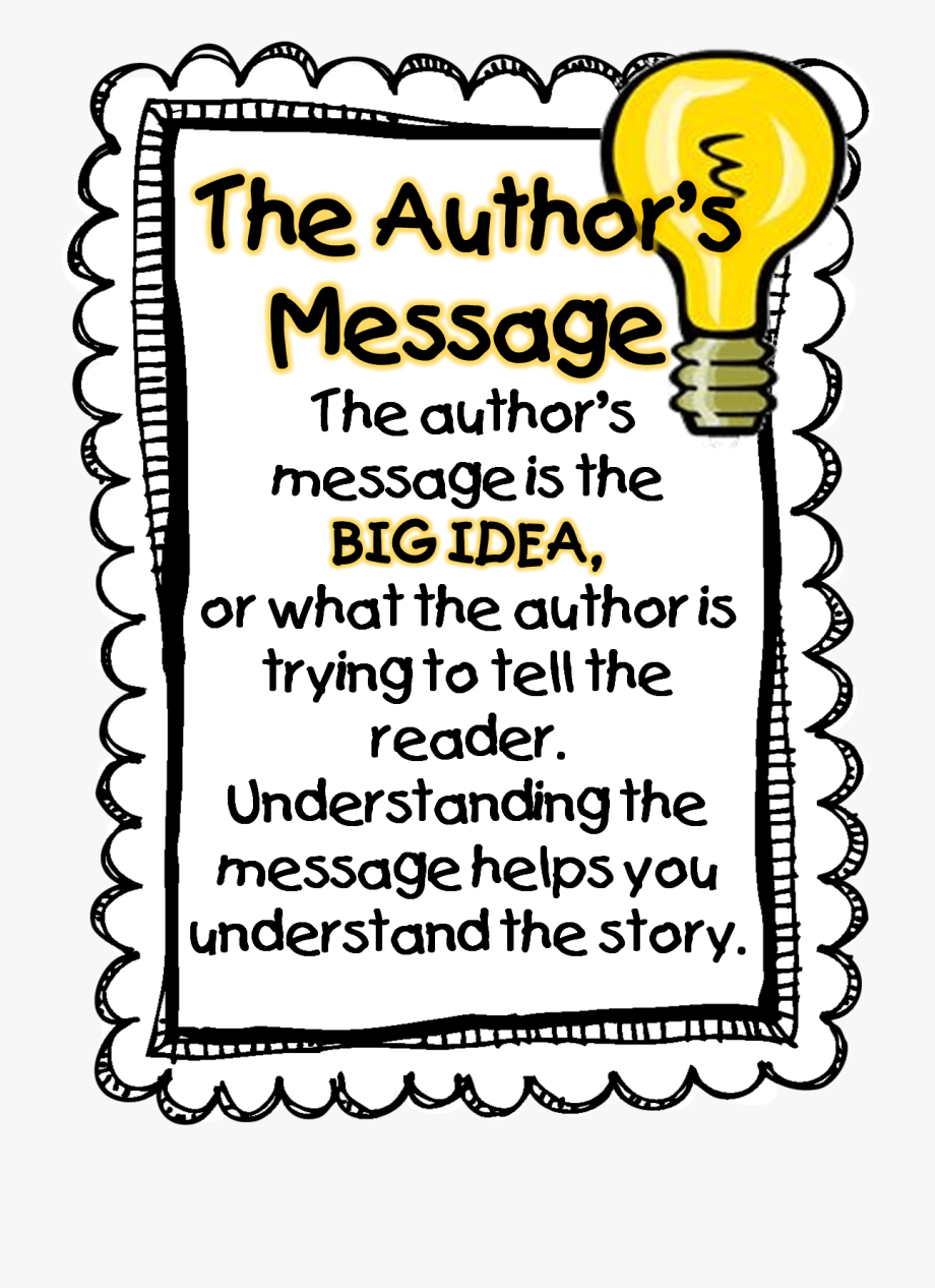 Author clipart work. At message of a