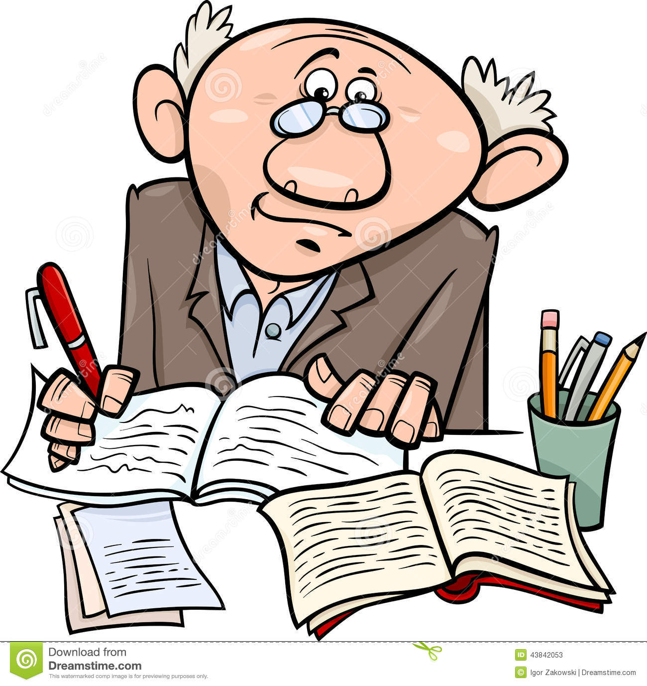 Author clipart writer. Cilpart nice ideas professor