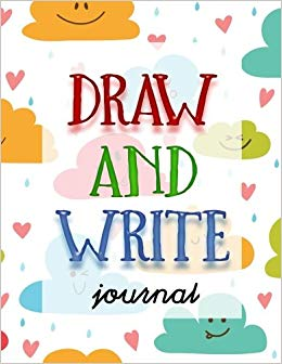 Draw and write drawing. Author clipart writing journal