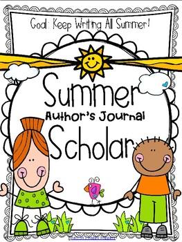 Author clipart writing journal. Summer scholar by herron