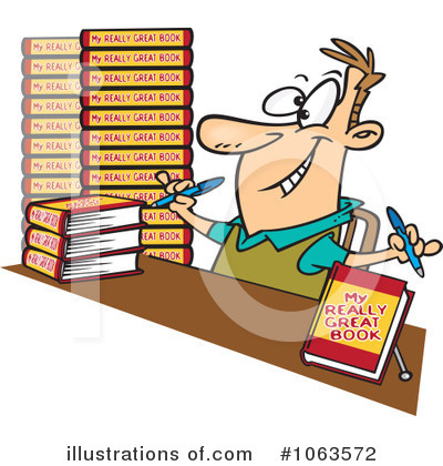 Author clipart writter. Illustration by toonaday royaltyfree