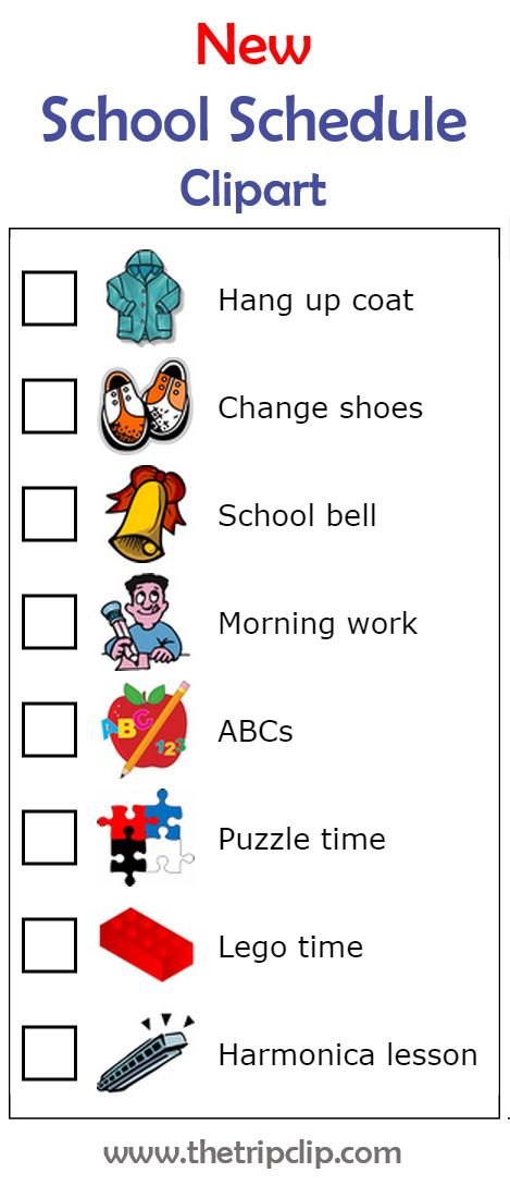 Schedule clipart different.  best new activities