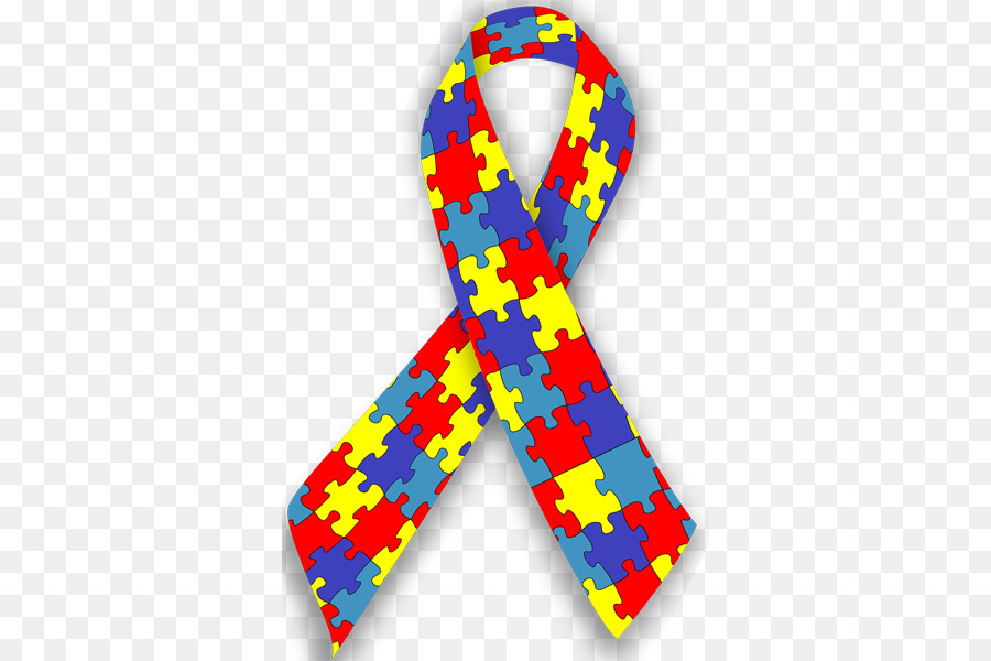 Awareness day line necktie. Autism clipart asperger