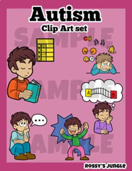 Behaviors clip art set. Autism clipart autism behavior