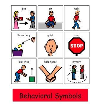 Autism clipart autism behavior. Behavioral visuals for students