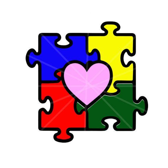 Autism clipart autism heart. Svg puzzle awareness piece