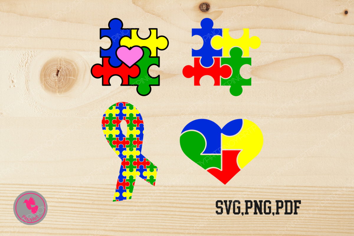 Svg file cut f. Autism clipart autism heart