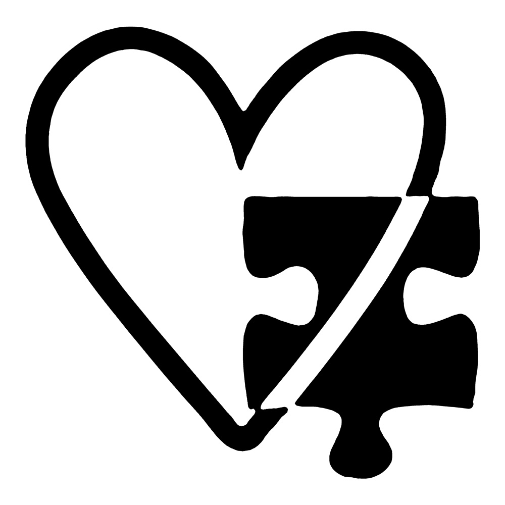 Awareness stickers car decals. Autism clipart autism heart