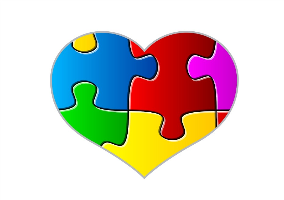 Helping kids with spectrum. Autism clipart autism heart